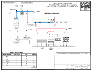 Pre-Engineered Restaurant Kitchen Fire System DrawingsFire System ...