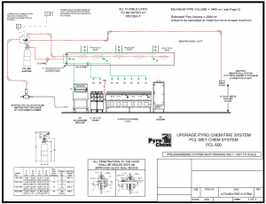 Pyro Chem Kitchen Knight Fire Suppression System Drawing
